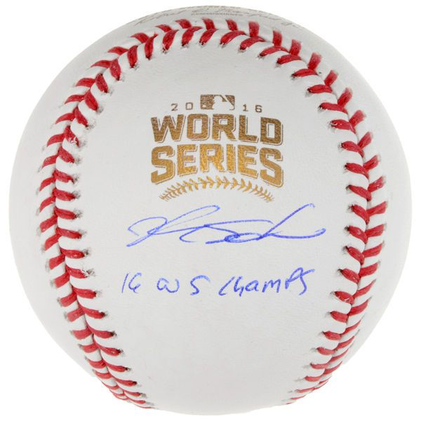 Kyle Schwarber Chicago Cubs Fanatics Authentic 2016 MLB World Series Champions Autographed World Series Logo Baseball with 2016 WS Champs Inscription - $329.99