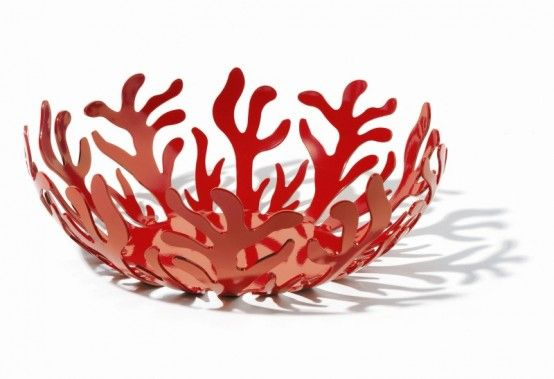 coral bowlDecor, Alessi Mediterraneo, Red, Coral Bowls, Fruit Holders, Fruit Bowls, Mediterraneo Fruit, Fruit Baskets, Bowls Large