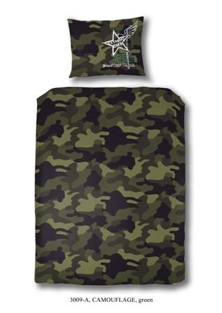 Dekbedovertrek Camouflage Groen