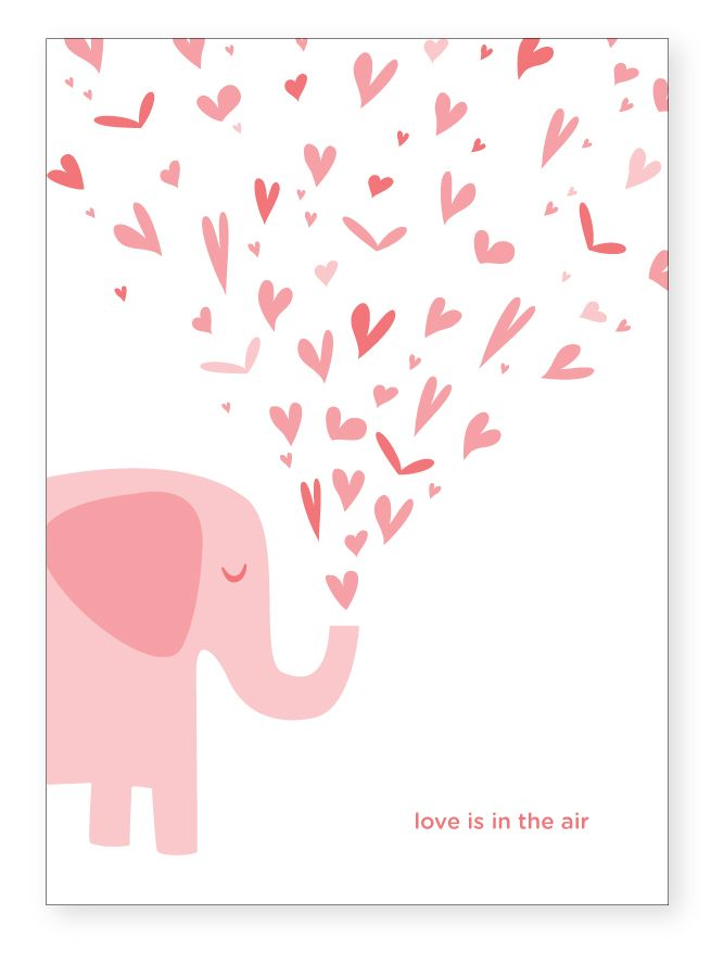 86 best images about Clipartelephant style – Elephant Valentine Card