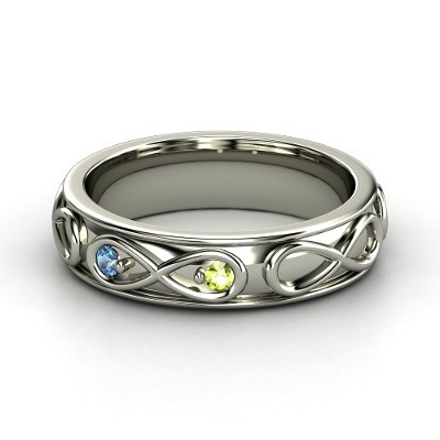 Infinity family birthstone ring