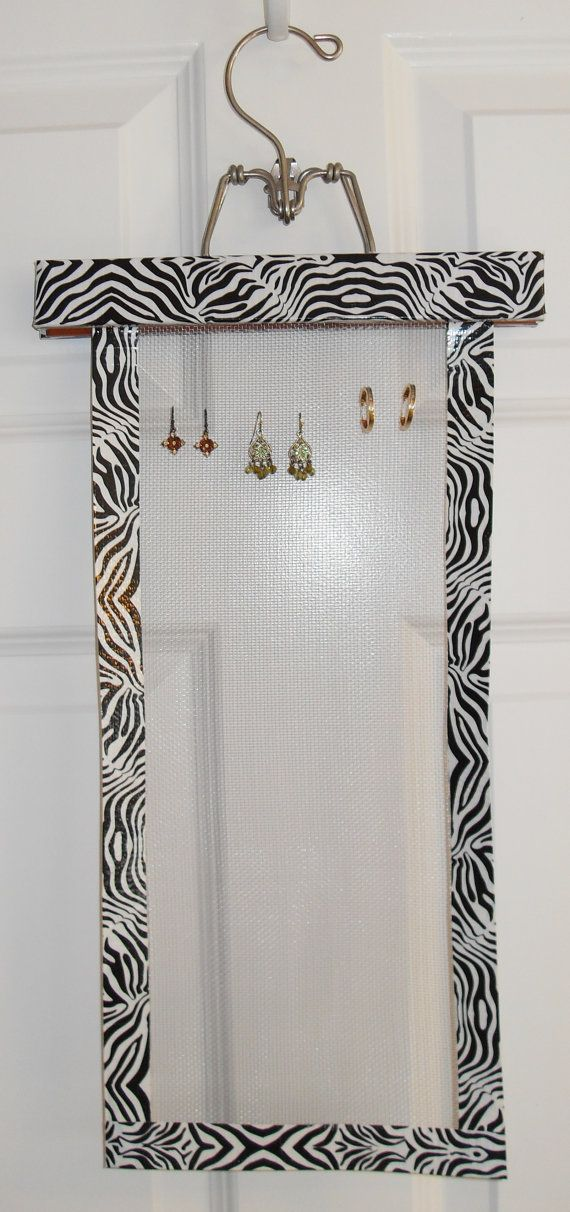 Earring holder...looks like you could do with screen and duct tape