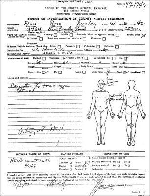 Elvis Death Certificate