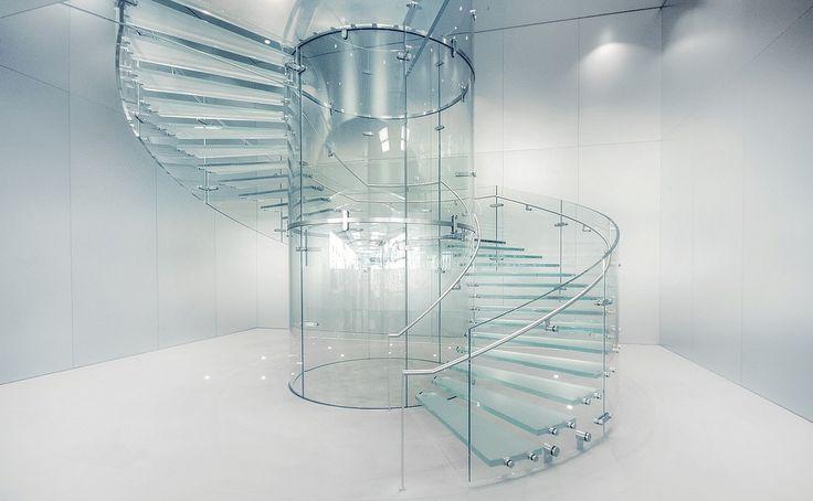 Spiral Apple Store In Frankfurt Germany Interior Glass Home Decor