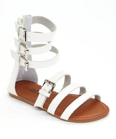 Look at this #zulilyfind! White Julia Gladiator Sandal #zulilyfinds