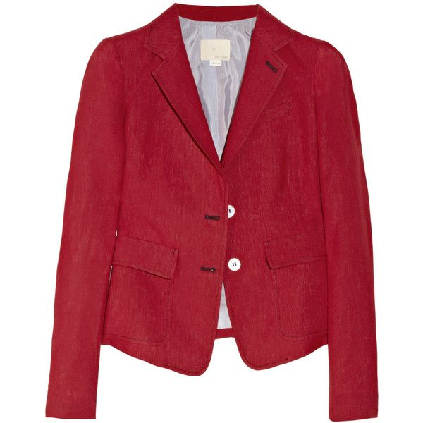 Boy. by Band of Outsiders Linen schoolboy blazer via Polyvore