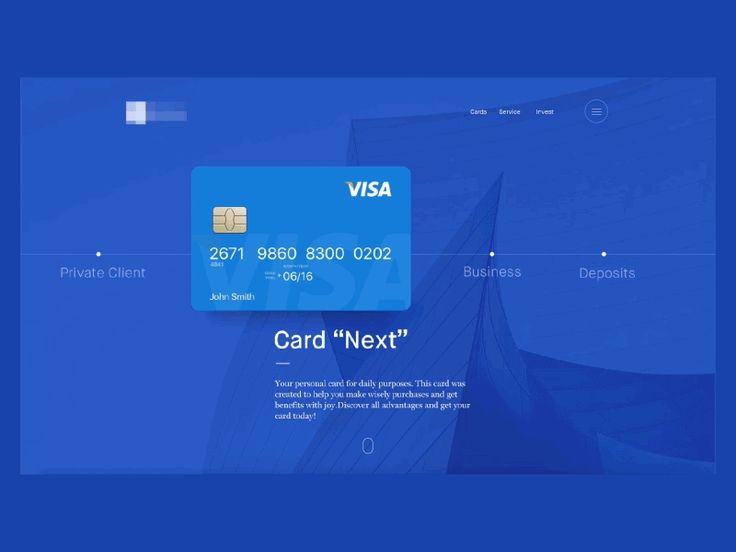 Animated financial landing page