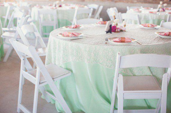 Green Wedding Linens