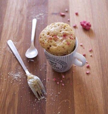 Photo de la recette : Mug cake pralines roses amande vanille