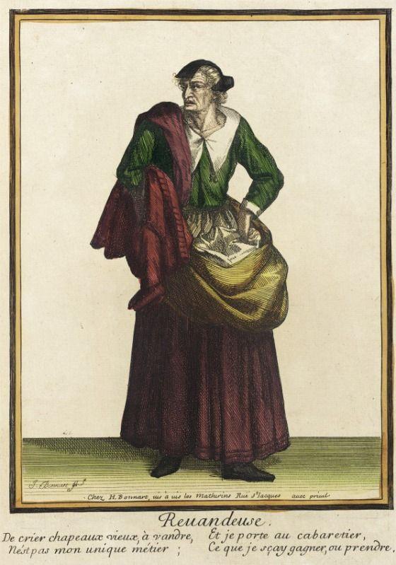 Recueil des modes de la cour de France, 'Reuandeuse' Jean Baptiste Bonnart (France, 1654-1726) Henri Bonnart (France, 1642-1711) France, Paris, 1675-1685