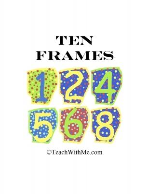 62 best 10 Frames images on Pinterest 10 frame, Kindergarten - ten frame template