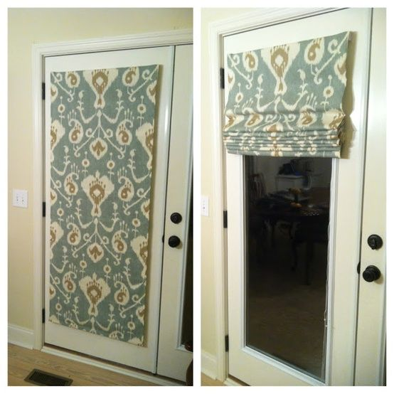 No Sew Roman Shades.back door privacy. NO SEW! this would be an awesome idea for my front and back door that have windows taking up half the door ... : door shades - Pezcame.Com