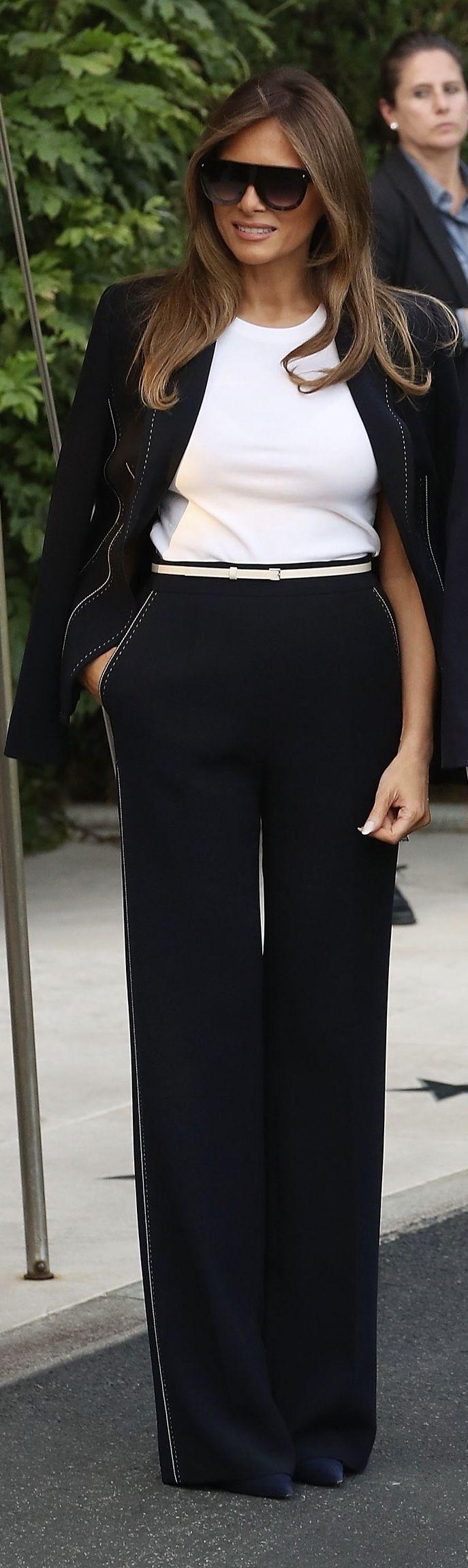 First Lady Melania Trump in Escada