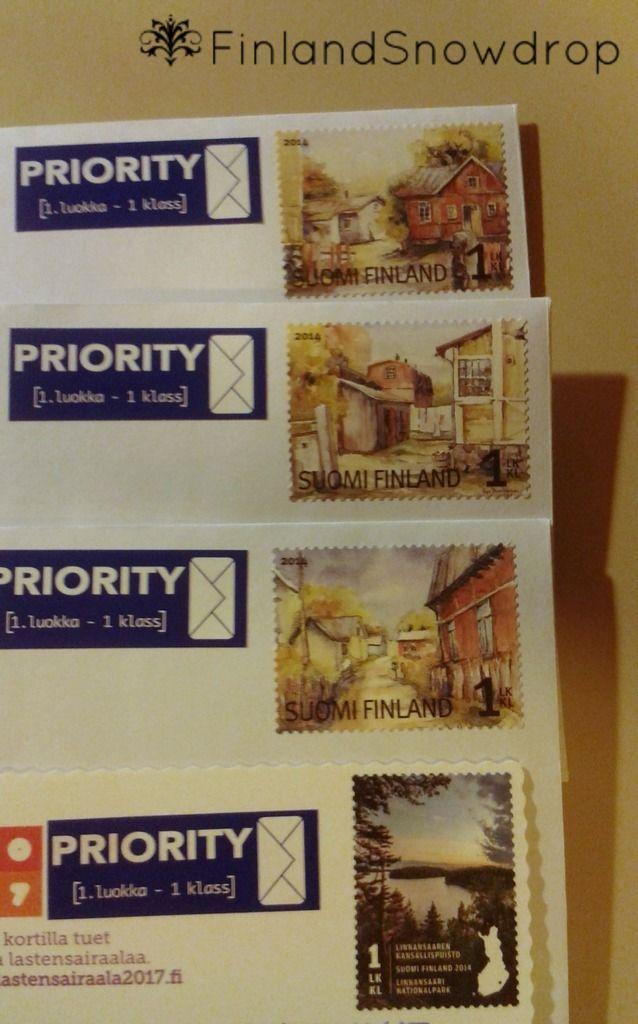 I like finnish post stamps. // Líbí se mi finské poštovní známky.