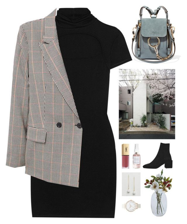 """""""Unbenannt #1447"""" by uniqueautumn ❤ liked on Polyvore featuring Helmut Lang, MANGO, Yves Saint Laurent, Chloé, Herbivore, ASOS and Topshop"""