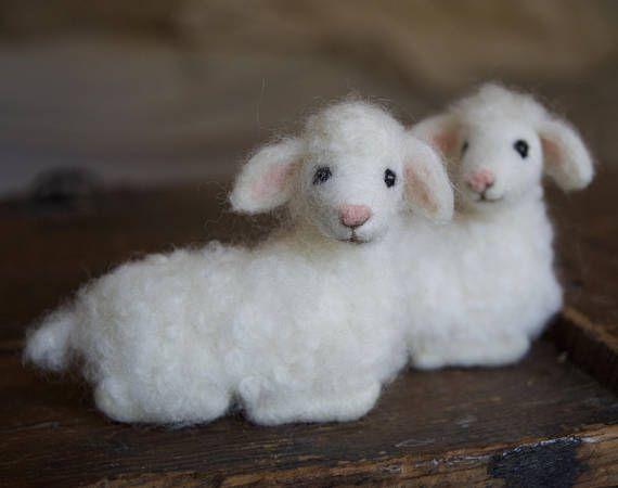 Aguja de fieltro cordero lana de oveja bebé Natividad