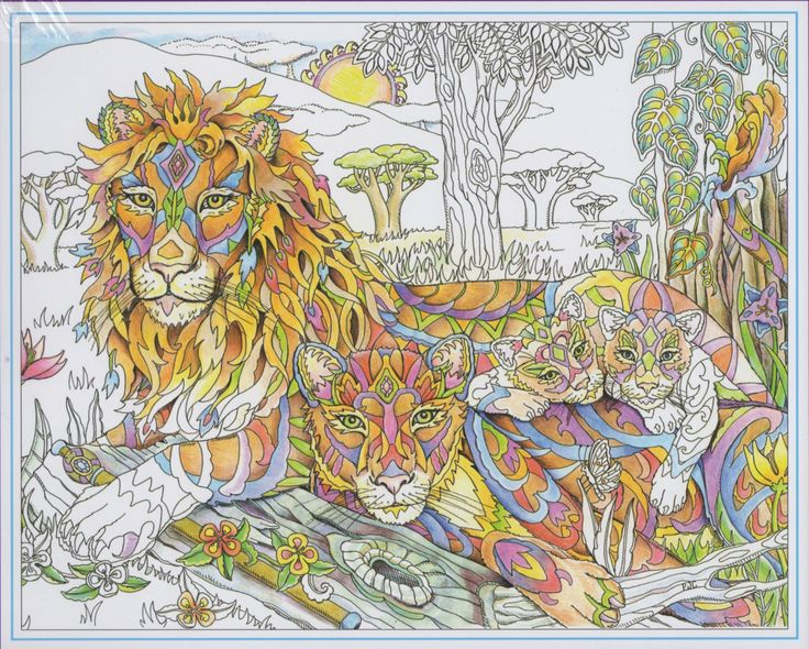 Color Me Smart Books Coloring Page 25 Best Lions Tigres Lynx Images Tattoo
