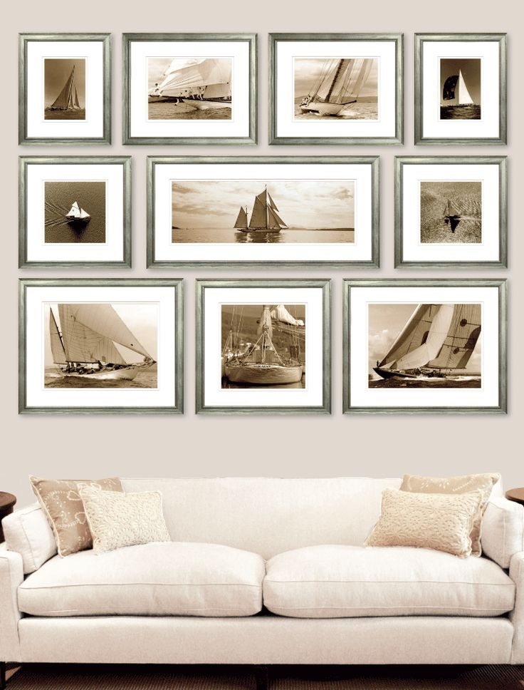 This is an excellent wall arrangement. It's tied together by the subject & frames & hung perfectly.Yachting Collection - Ben Wood, Photographer