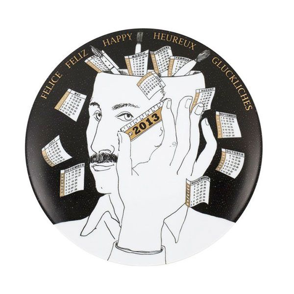 Fornasetti - Calendar wall plate for 2013