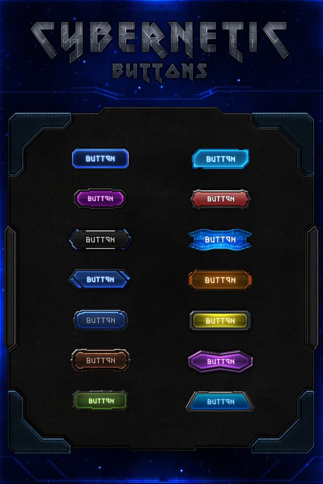 Cybernetic Buttons b...