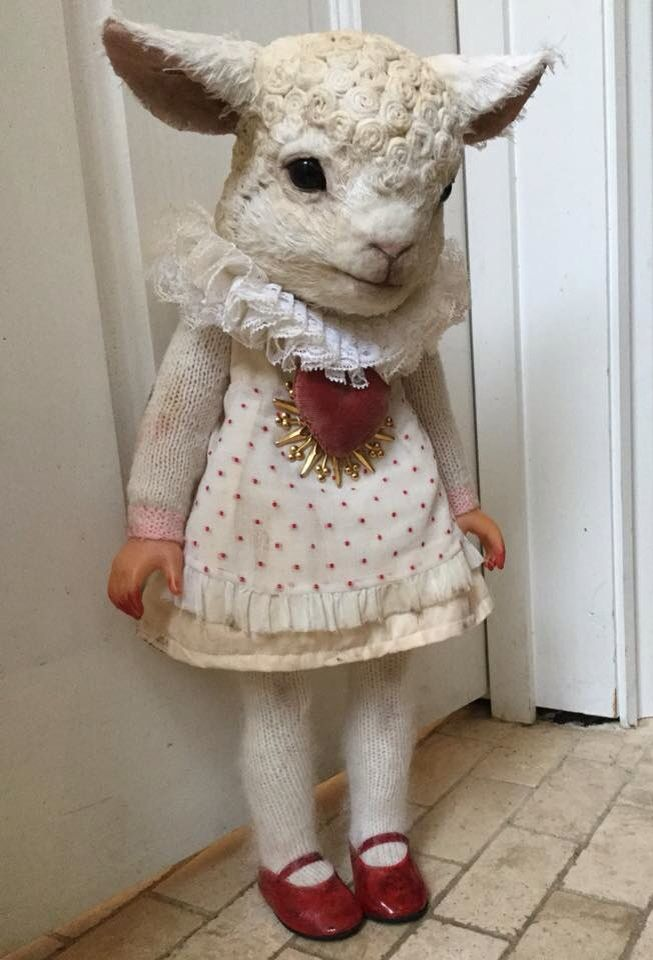 Annie Montgomerie Lamb ooak doll (please follow minkshmink on pinterest) There is something both creepy and awesome about this doll! ~tm