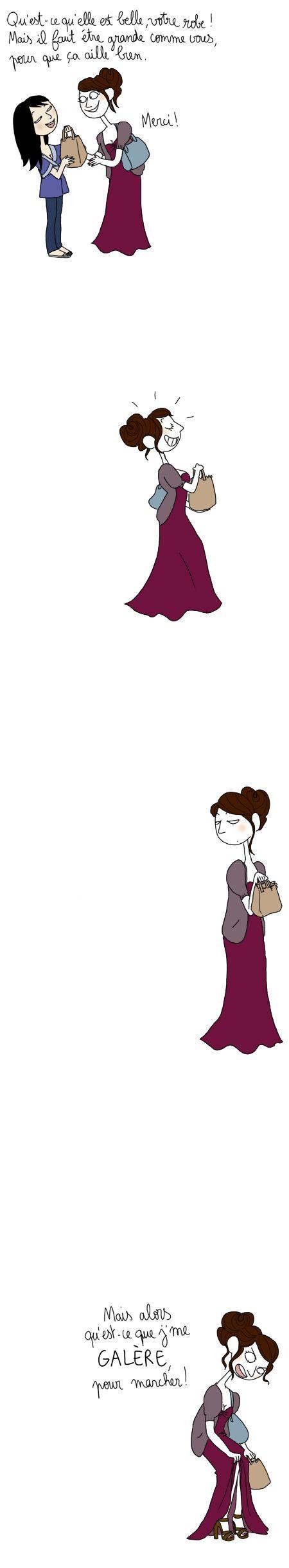 """"""" Cendrillon est la preuve qu'une paire de talons peut changer la vie... """"/ By Penelope bagieu."""