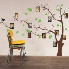 Brown Photo Tree Wall Sticker Removable Wall Decal For Home Decoration