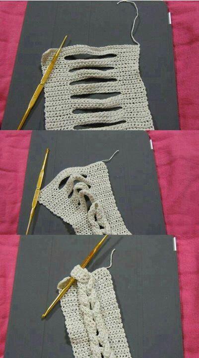 """Buenísima idea!!!!! Para formar punto """"8"""" en crochet!!!!"""