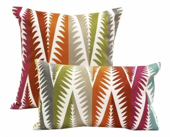 Bold colours are the key element to this flocked fern inspired cushion range, also available is coordinating leopard pattern. Add some colour to your living or bedroom décor. Material:  Cover:  Polyester, Fill:  Polyester #homedecorgiftideas http://wamhomedecor.com.au/index.php/rainbow-chevron-leaf-cushions.html