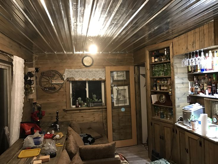 Galvanized ceiling rustic decor shabby chic. Country
