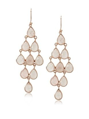 62% OFF Argento Vivo Rose Quartz Chandelier Earrings