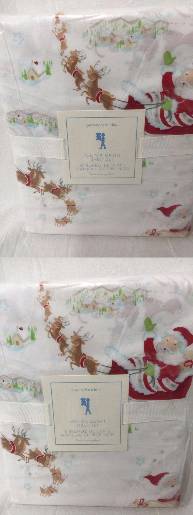 Kids Bedding: New Pottery Barn Kids Santas Sleigh Twin Sheet Set -> BUY IT NOW ONLY: $39.96 on eBay!