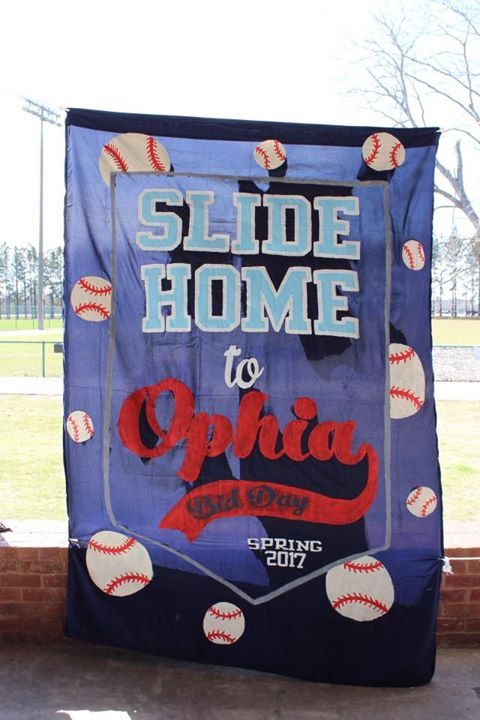 Omega Phi Alpha Baseball Theme Rush and Bid Day Sheet Sign #ΩΦΑ