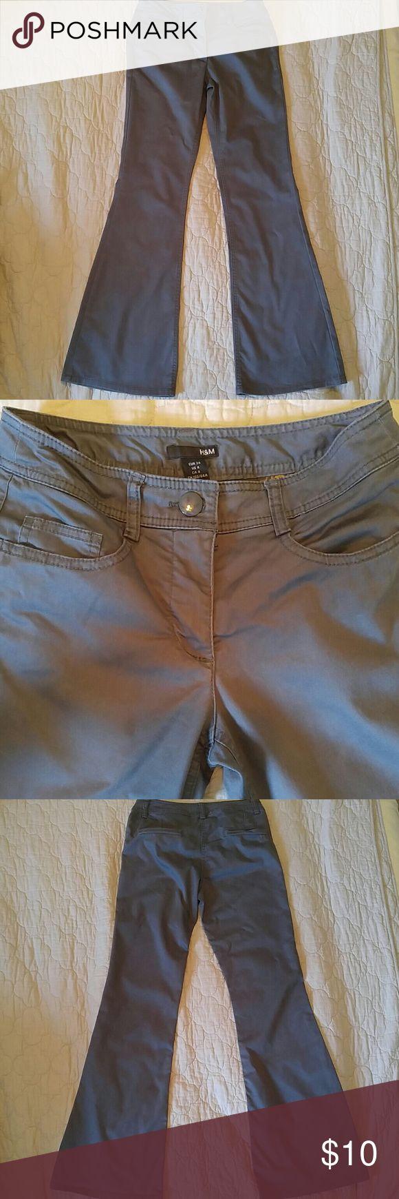 H&M Women's Grey Dress Pants Size 4 H&M Women's Grey Dress Pants Size 4 H&M Pants Boot Cut & Flare