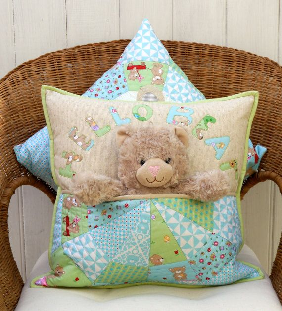 Bear Buddie pocket cushion pdf pattern by claireturpindesign & Best 25+ Making cushions ideas on Pinterest | Sewing piping ... pillowsntoast.com