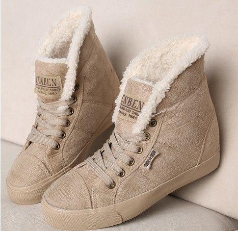 Women's Fur Sneaker Boots