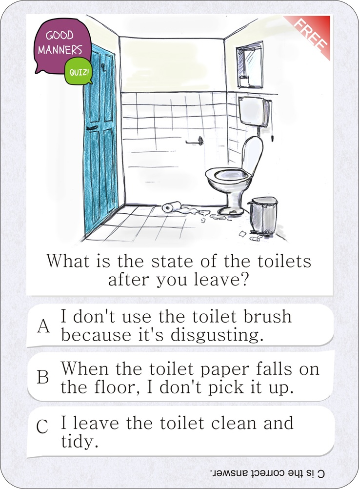 Bathroom Stall Quiz 25 best free card game - good manners quiz images on pinterest