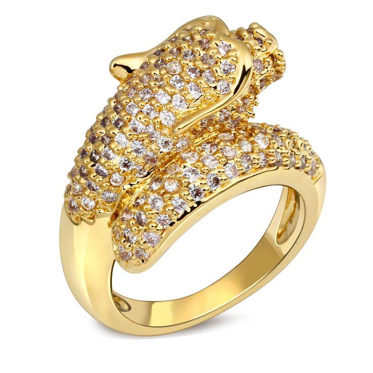 Тенденция этнический преувеличены дракон кольца для мужчины и женщины платиновое покрытие CZ камень установка палец кольцо ну вечеринку ( hyle )