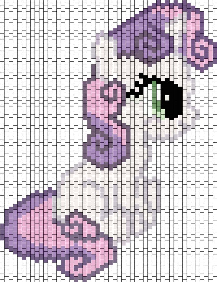 Sweetie Belle Bead Pattern | Peyote Bead Patterns | Characters Bead Patterns