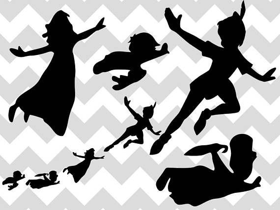 Peter Pan Svg Peter Pan Bundle Neverland Wendy Png Disney Svg Disney Svg Silhouette Cricu Peter Pan Silhouette Peter Pan Flying Disney Silhouette Art