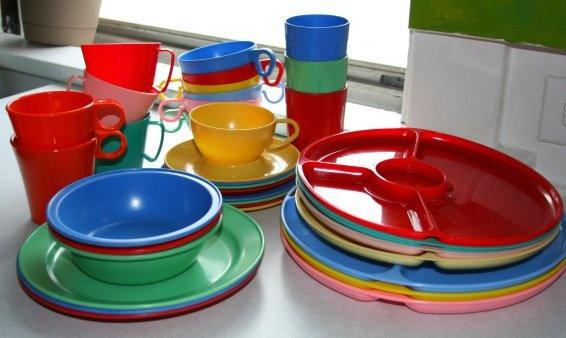 Vintage Plastic Tableware