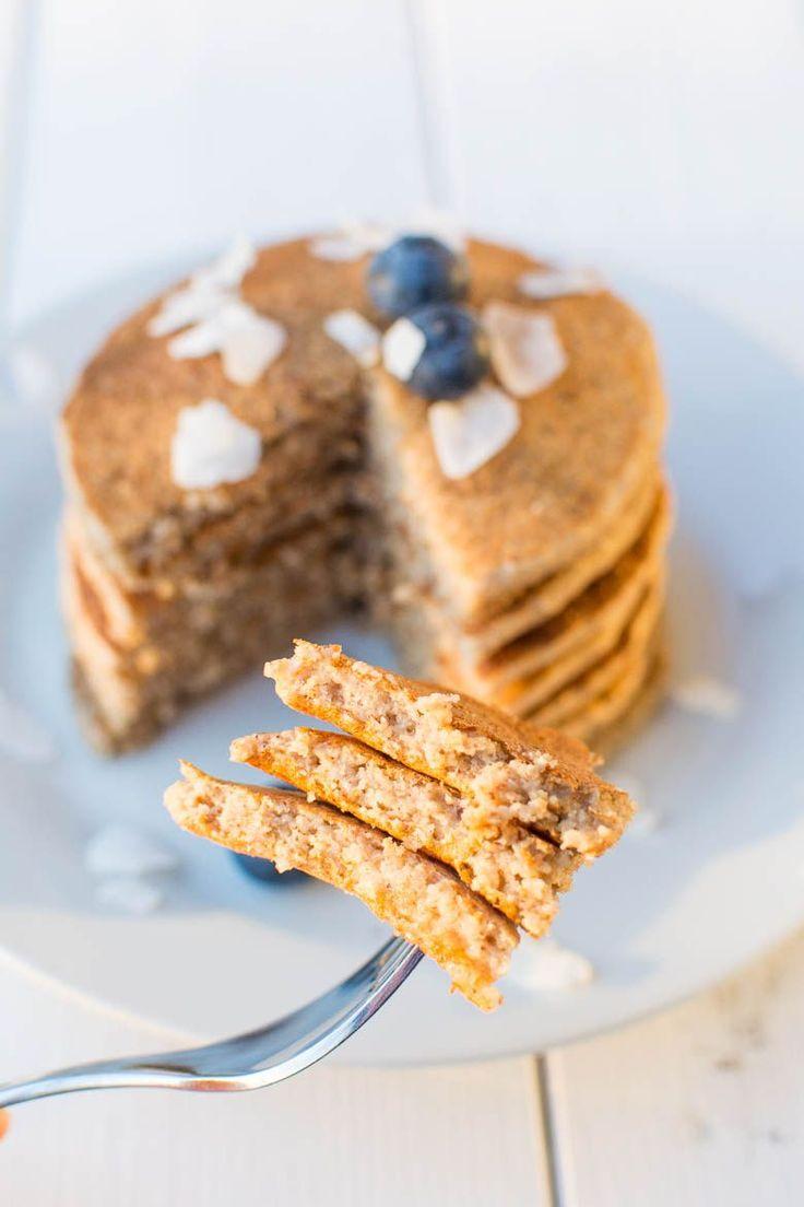 Saftige Haferflocken-Pancakes {vegan, glutenfrei & zuckerfrei}