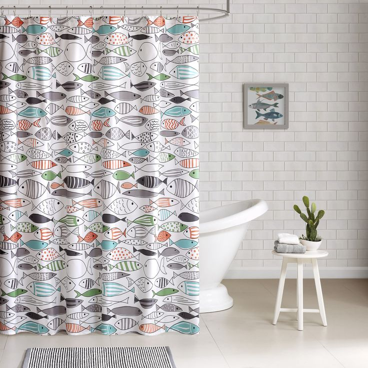 Best Shower Curtains Images On Pinterest Bathroom Bath - Fish bath towels for small bathroom ideas