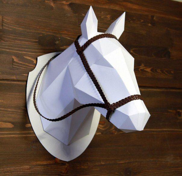 Трофейные головы животных из бумаги для украшения интерьера. Автор: Наталья Бублик.... фото #3