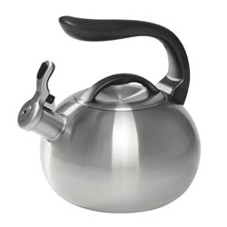 Brushed Stainless Bubble Teakettle - 2Qt
