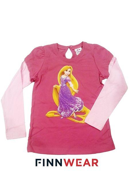 Tähkäpää, pitkähihainen t-paita, koko 110 cm. Pitkähihaisessa t-paidassa on ihana Tähkäpää-painatus ja hauskat tuplahihat. Niskassa on pisaranmuotoinen, napilla suljettava aukko ja olkapäillä sievät rypytykset. Sataprosenttista puuvillaa, pesu 40 asteessa.