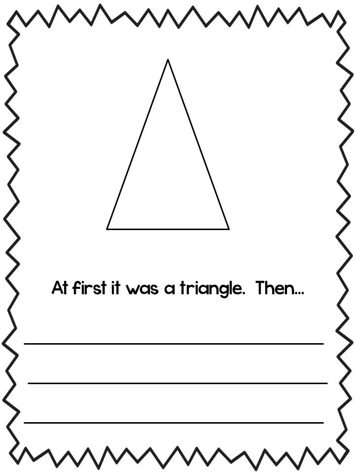 Fun art/writing prompt...use with The Greedy Triangle book by Marilyn Burns