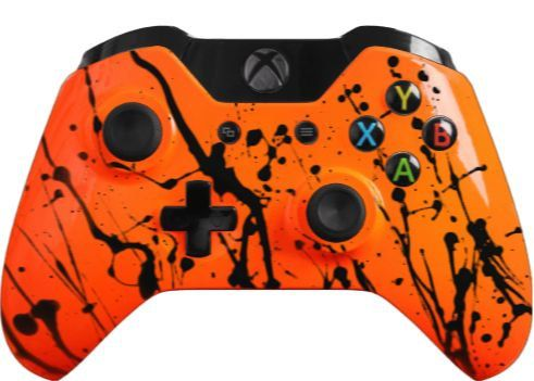 Hey, I found this really awesome Etsy listing at https://www.etsy.com/listing/187953145/glossy-orange-custom-controller-with