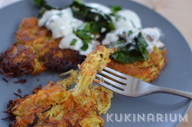 Kukinarium: Kalarepka inaczej - placki warzywne