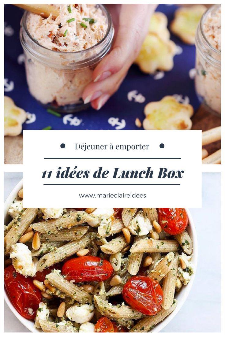 11 idées de déjeuners à emporter / lunch box recettes / recettes pour manger en extérieur